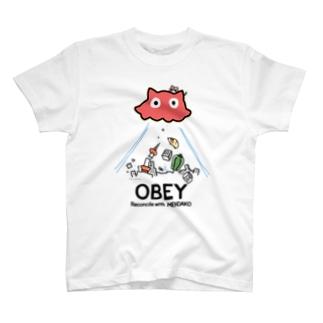 OBEYめんだこ (淡色用)  T-shirts