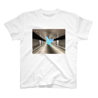ブルー鳥 T-shirts