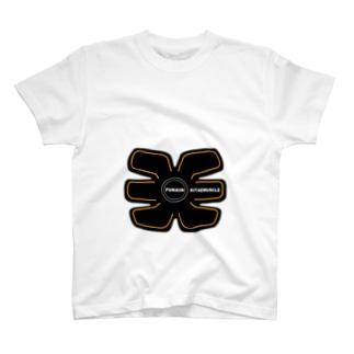 腹筋鍛えマッスル T-shirts
