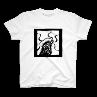 ツバメ堂のカラス(モノクロ) T-shirts