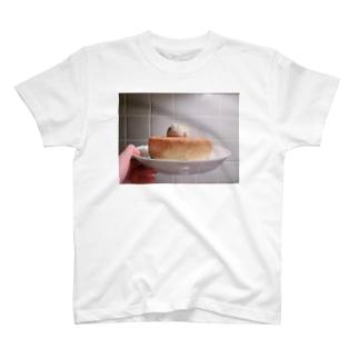 背中にレシピが書いてあるパンケーキ T-shirts