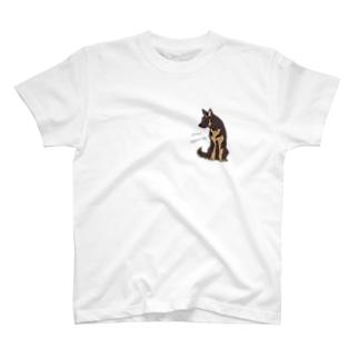 おすわりシェパード T-shirts