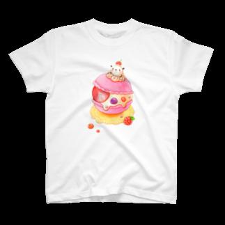 pocoehonのポコポコマカロン T-shirts