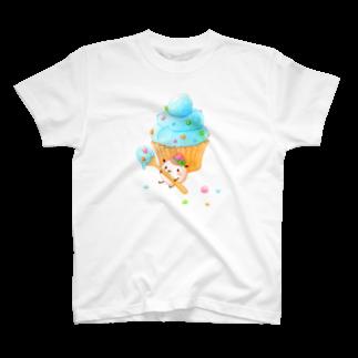 pocoehonのポコポコカップケーキ T-shirts