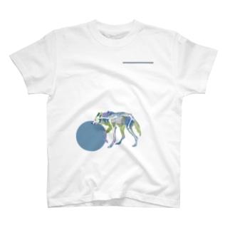 タテガミオオカミのホネ T-shirts