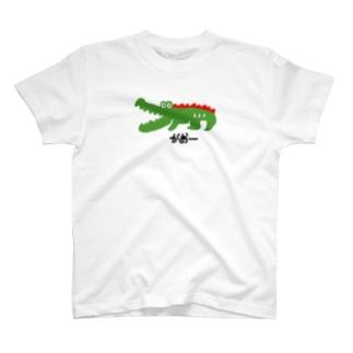 ワニ moji×animal T-shirts