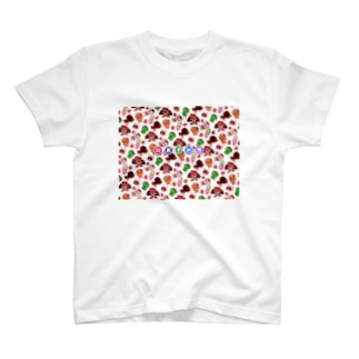 和菓子妖怪★総柄 T-shirts