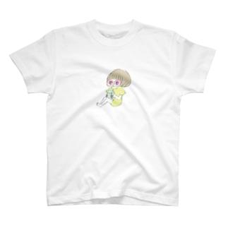 とうにゅうちゃん牛乳飲んでる T-shirts