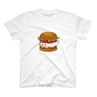 はさみあざらし ハンバーガー T-shirts