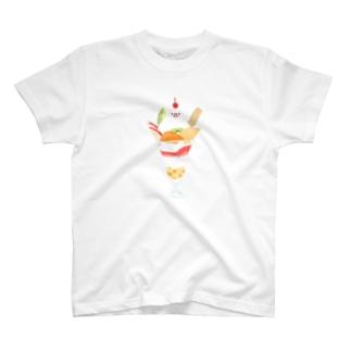 パフェ文鳥 T-shirts