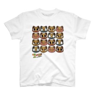 てんてけ山のたぬきさん/A T-shirts