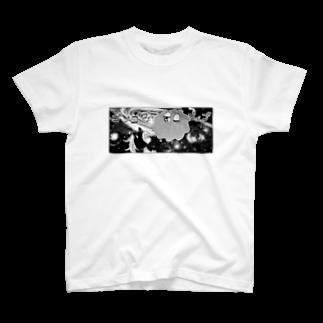 きらきらやさんの宇宙猫 T-shirts