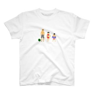 夏のじいちゃんと孫 T-shirts