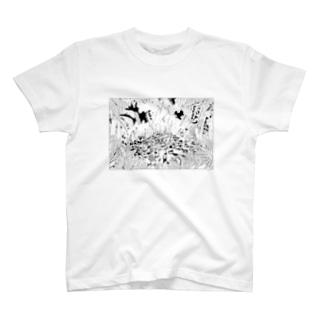 キャンプファイヤー T-shirts