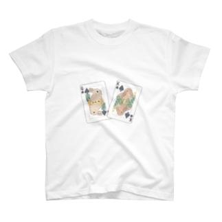 トランプのうさぎさん(スペード) T-shirts
