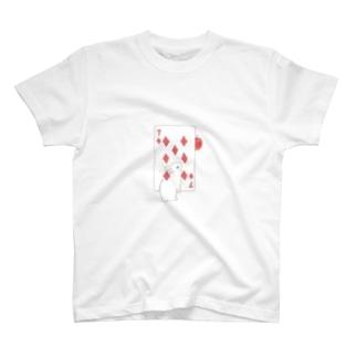 トランプのうさぎさん(ダイヤ) T-Shirt