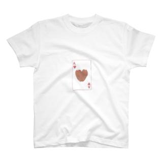 トランプのうさぎさん(ハート) T-shirts