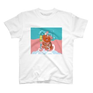 跳ね金魚(背景カラー) T-shirts