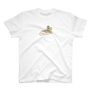 餃子ビール(カラフル) T-shirts