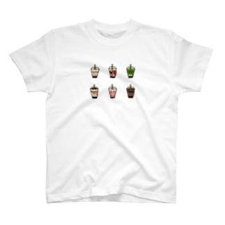タピオカドリンク T-shirts