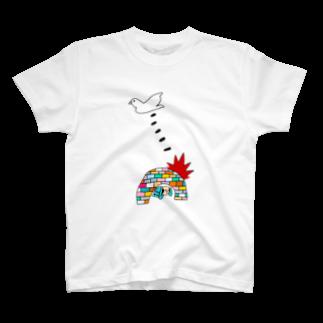 花くまゆうさくのBOMB & PEACE T-shirts