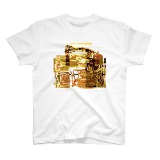 再構成~棄てられたミシン2 イエロー T-shirts