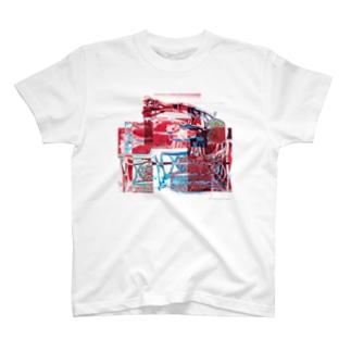 再構成~棄てられたミシン2 レッド T-shirts
