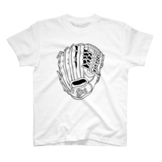 グローブ(外野手用) T-shirts
