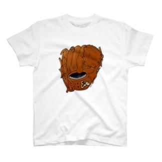 グローブ(投手用)カラー2 T-shirts
