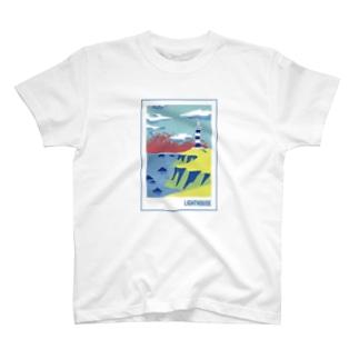 灯台 -lighthouse- (枠ありver.) T-shirts