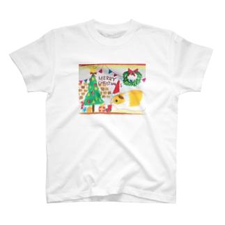 クリスマスが待ち遠し過ぎるモルモット T-shirts