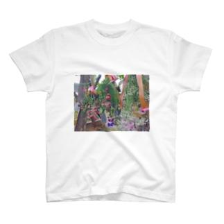 ドライフラワー T-shirts