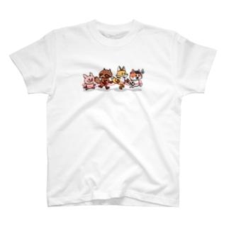 でんしゃごっこあにまるず T-shirts