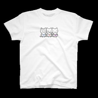 ねこぱんつの三色ぱんつ T-shirts