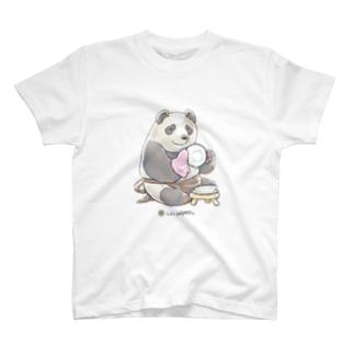 LIVINGMOOL パンダ T-shirts