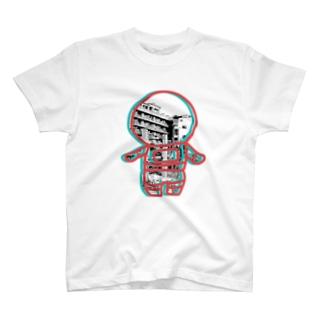 廃墟の宇宙飛行士 T-shirts