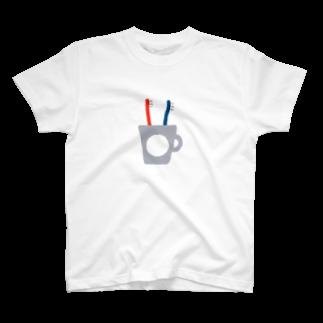 ▷            chiroruのふたつの歯ブラシ。 T-shirts