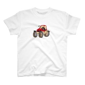 もぐらのおぐらさん トラクター T-shirts