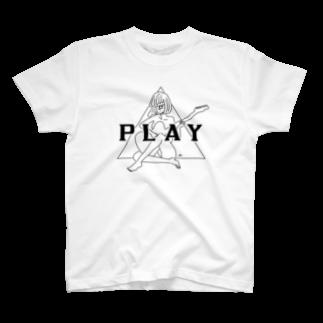 マチダタケルのPLAY GIRL/白ボディ推奨 T-shirts