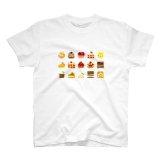 ドット絵ケーキ T-shirts