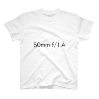 単焦点レンズTシャツ(50mm f/1.4) T-shirts