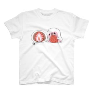 いちご大福と ことりTシャツ T-shirts