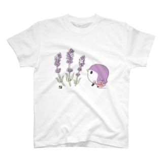 ラベンダーと ことりTシャツ T-shirts