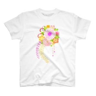 花かんざし01 T-shirts