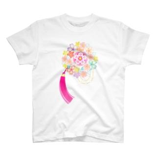 花かんざし02 T-shirts