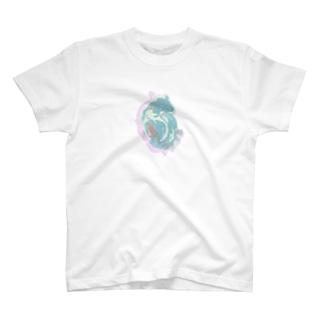 臓物ティー青 T-shirts