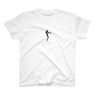 ジャズ風シルエット T-shirts