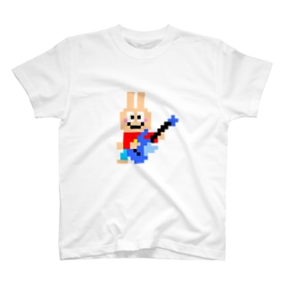 ギター大好きうさぎさん T-shirts