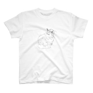 癖っ毛のネコ T-shirts
