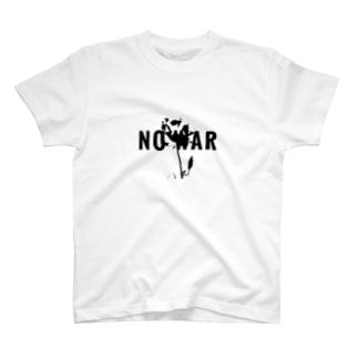 平和の薔薇 モノクロ T-shirts